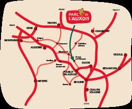 Map Parc de l'Auxois